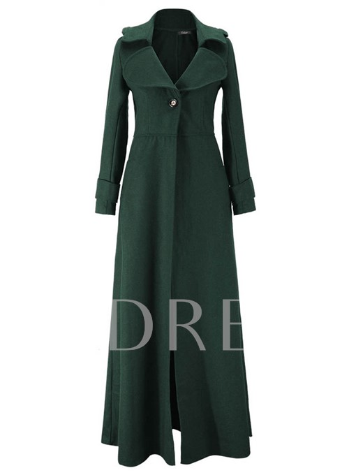 Chic Notched Lapel With Tight Waist Epaulet Wrapped Women's Trench Coat