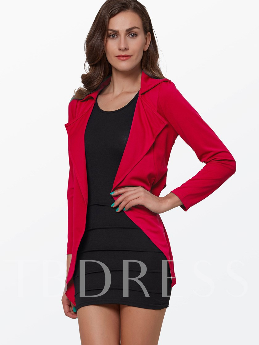 Red and Black Coat Women's Suit