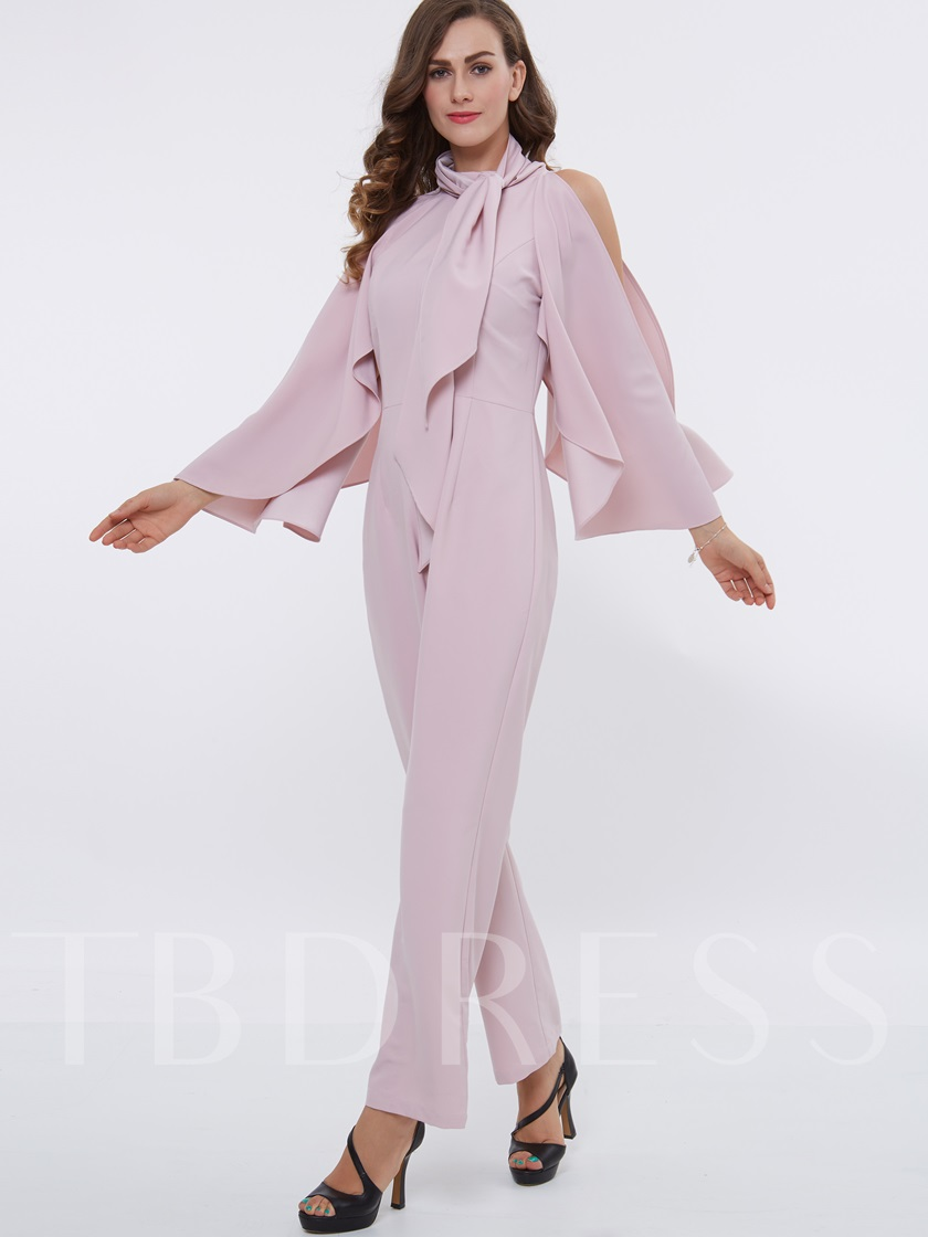 Pink Chiffon Graceful Women's Jumpsuit