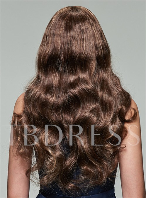 Charming Long Wavy Lace Front Human Hair Wig 22 Inches