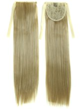 Long Straight Lace Up Synthetic Hair Ponytail