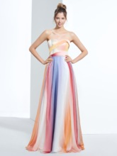 A-Line Sweetheart Printed Long Prom Dress