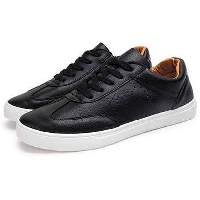 Flat Heel Lace-UP Front Plain Round Toe Men's Sneakers