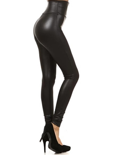Zipper Black High Waisted Tight Women's Leggings