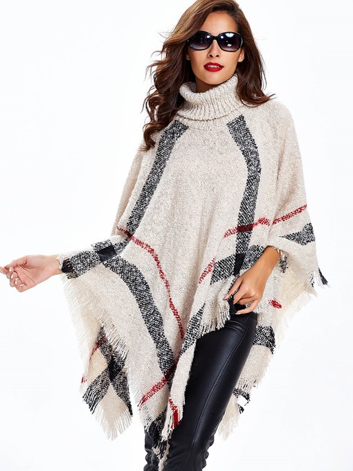 Cape Style Turtleneck Loose Women's Sweater