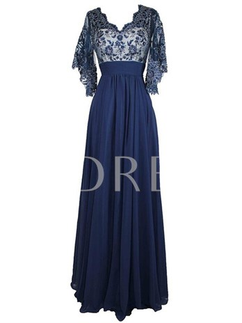 Appliques Mother of the Bride Dress with Sleeves