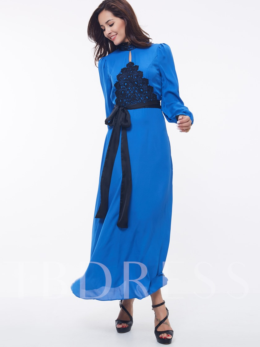 Bohemian Geogous Long Sleeve Women's Maxi Dress