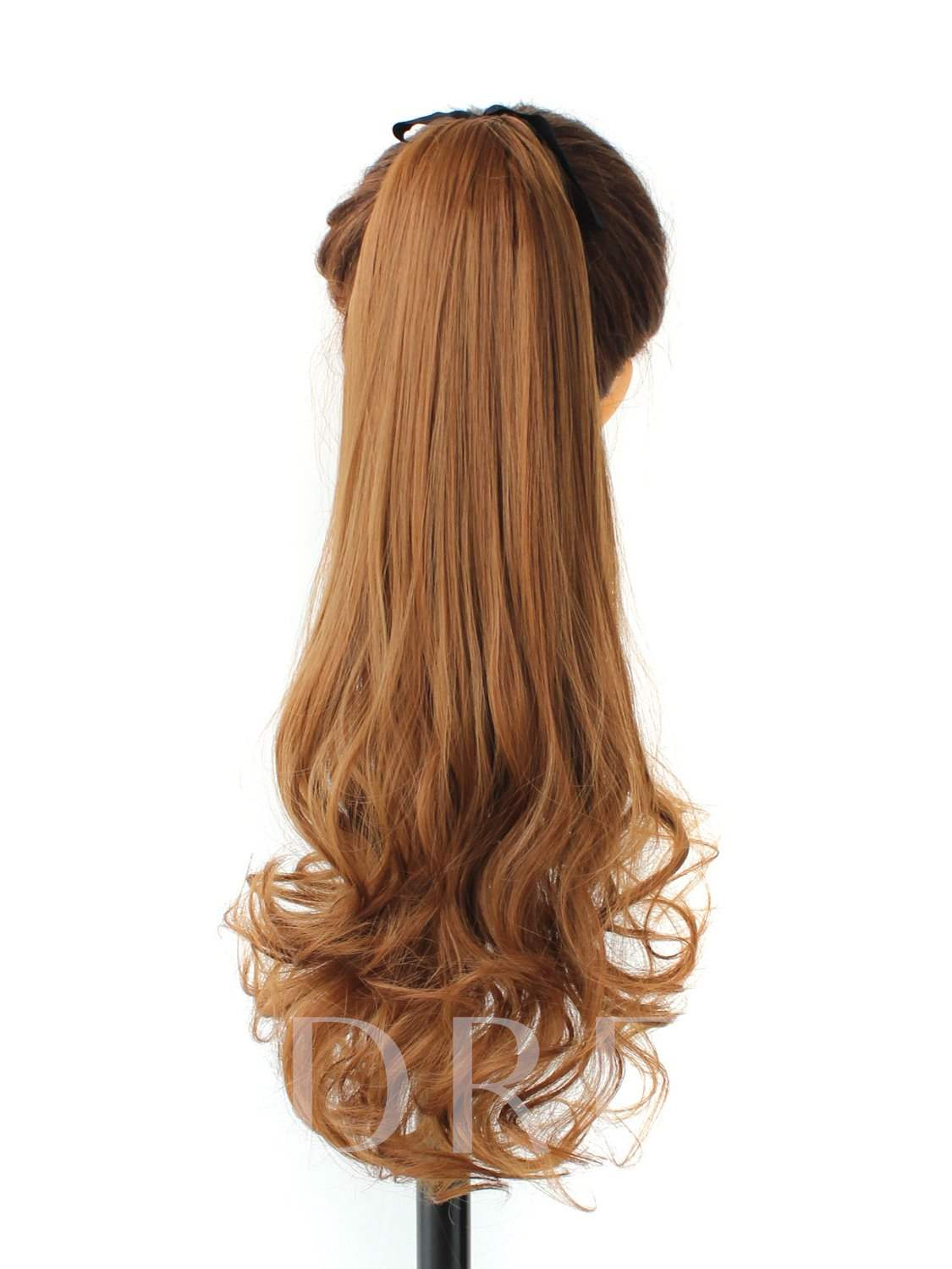 Long Wavy Lace-up Synthetic Ponytail For Women