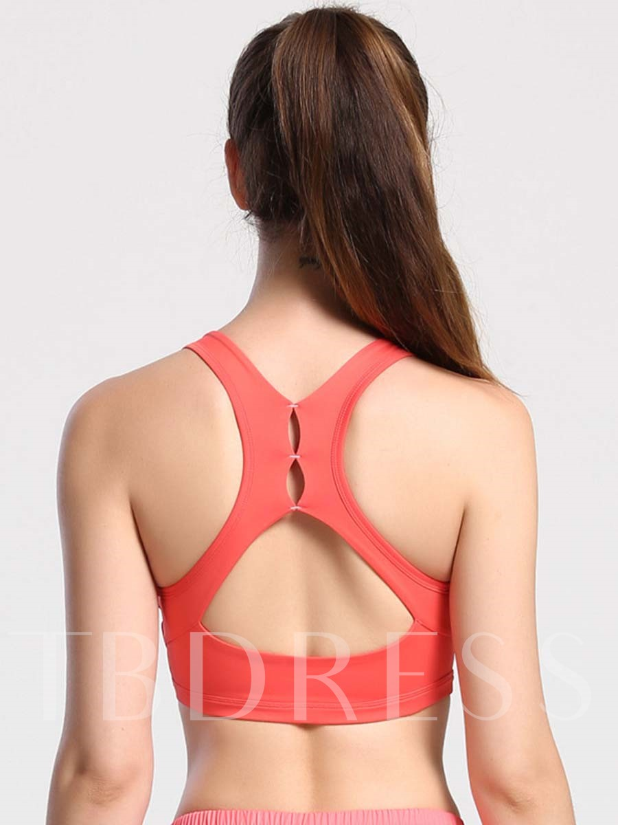 Words Printed Key Hole Back Women Sports Bra