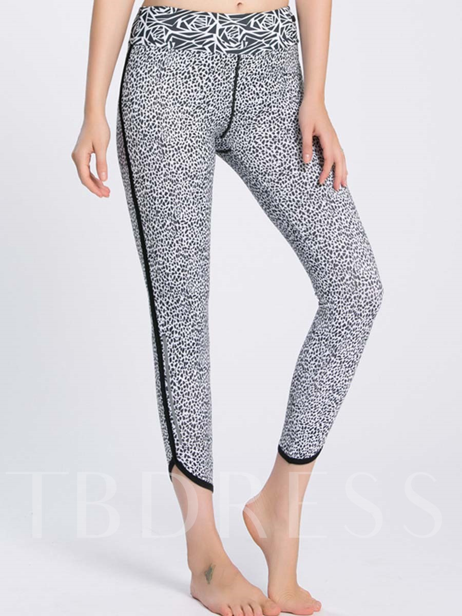 Gray Spots Striped Side Anti-Sweat Women's Fitness Pants