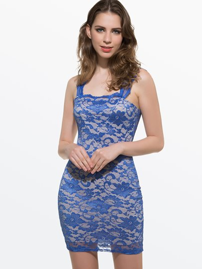 Lace Jacquard Sleeveless Lace Dress