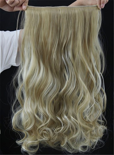 Long Wave One Piece Synthetic Clip In Hair Extension 24 Inches 24H613