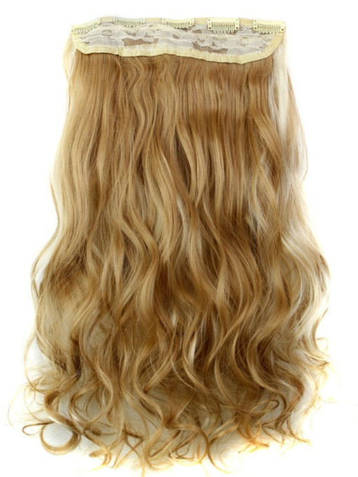 27H613 Long Wave Synthetic One Piece Clip In Hair Extension 24 Inches