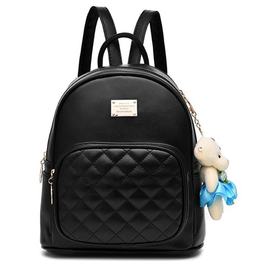 Casual Korean Plaid Patchwork Backpack