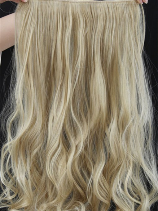Mix Color Long Wave One Piece Clip In Hair Extension 24 Inches 22TM613