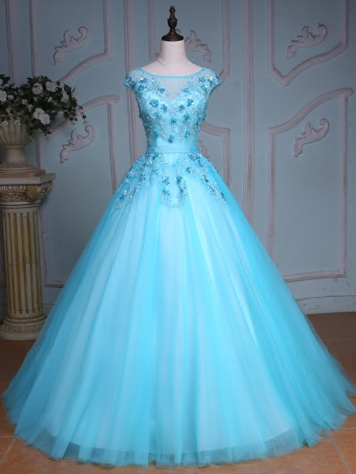 Beading Rhinestone Sequins Quinceanera Dress