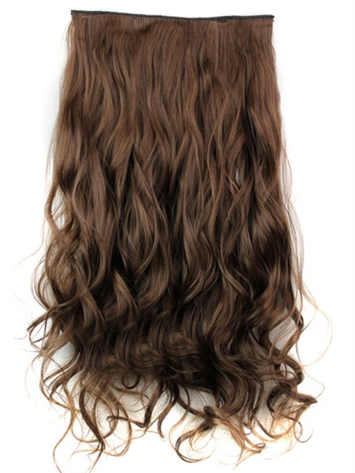 Long Wave Synthetic One Piece Clip In Hair Extension 24 Inches 4/30