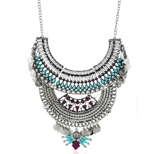 European Style Alloy Tassels Necklace