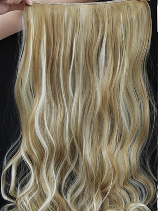 Mix Color Long Wave One Piece Clip In Hair Extension 24 Inches 22TH613