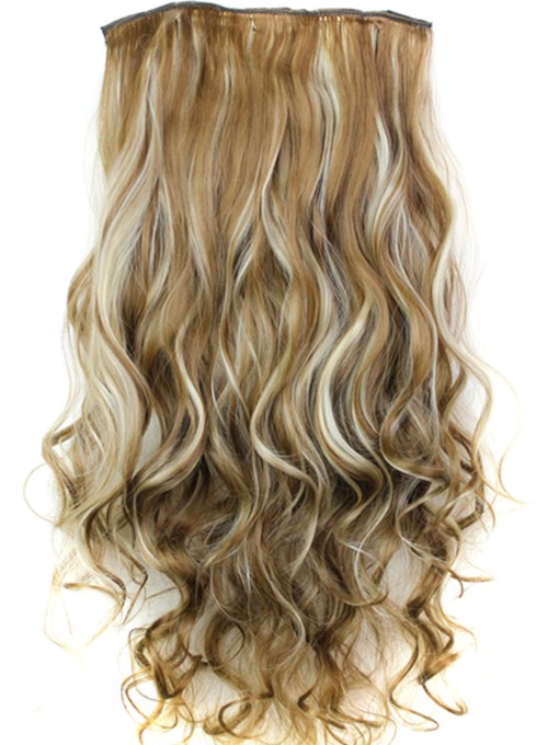 Long Wave 24 Inches Mix Color One Piece Clip In Hair Extension 6H613