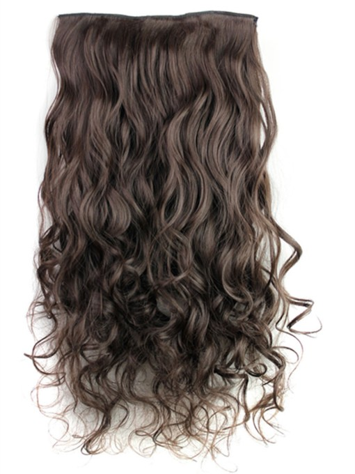 Long Wave Synthetic One Piece Clip In Hair Extension 24 Inches 4#