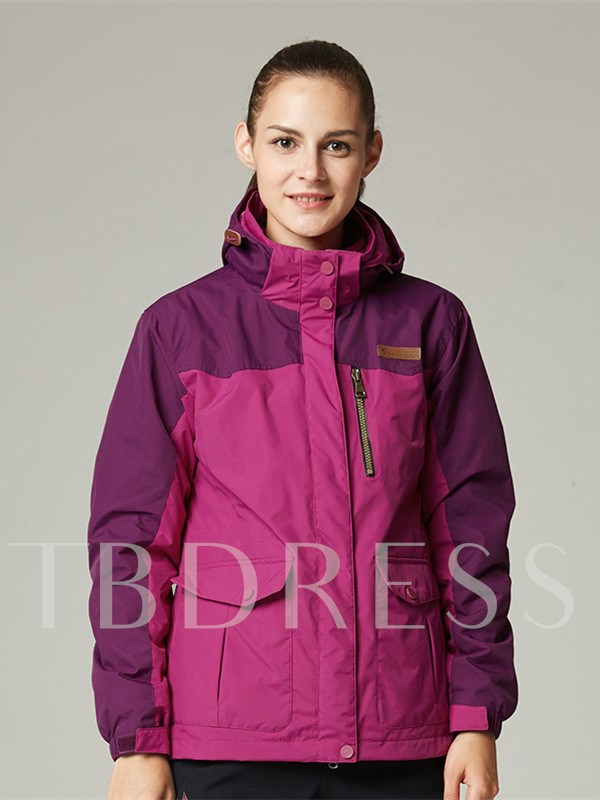 3 in 1 Wind-Water-Proof 2 Piece Warm Female Outdoor Jacket