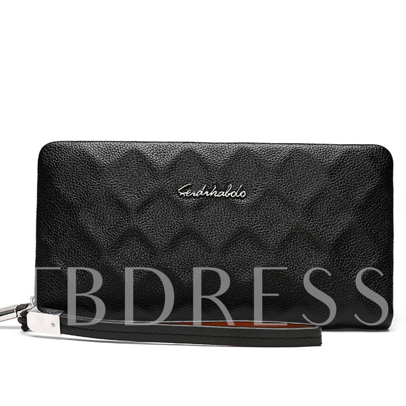 European Style Guilted Long Pattern Men's Wallet