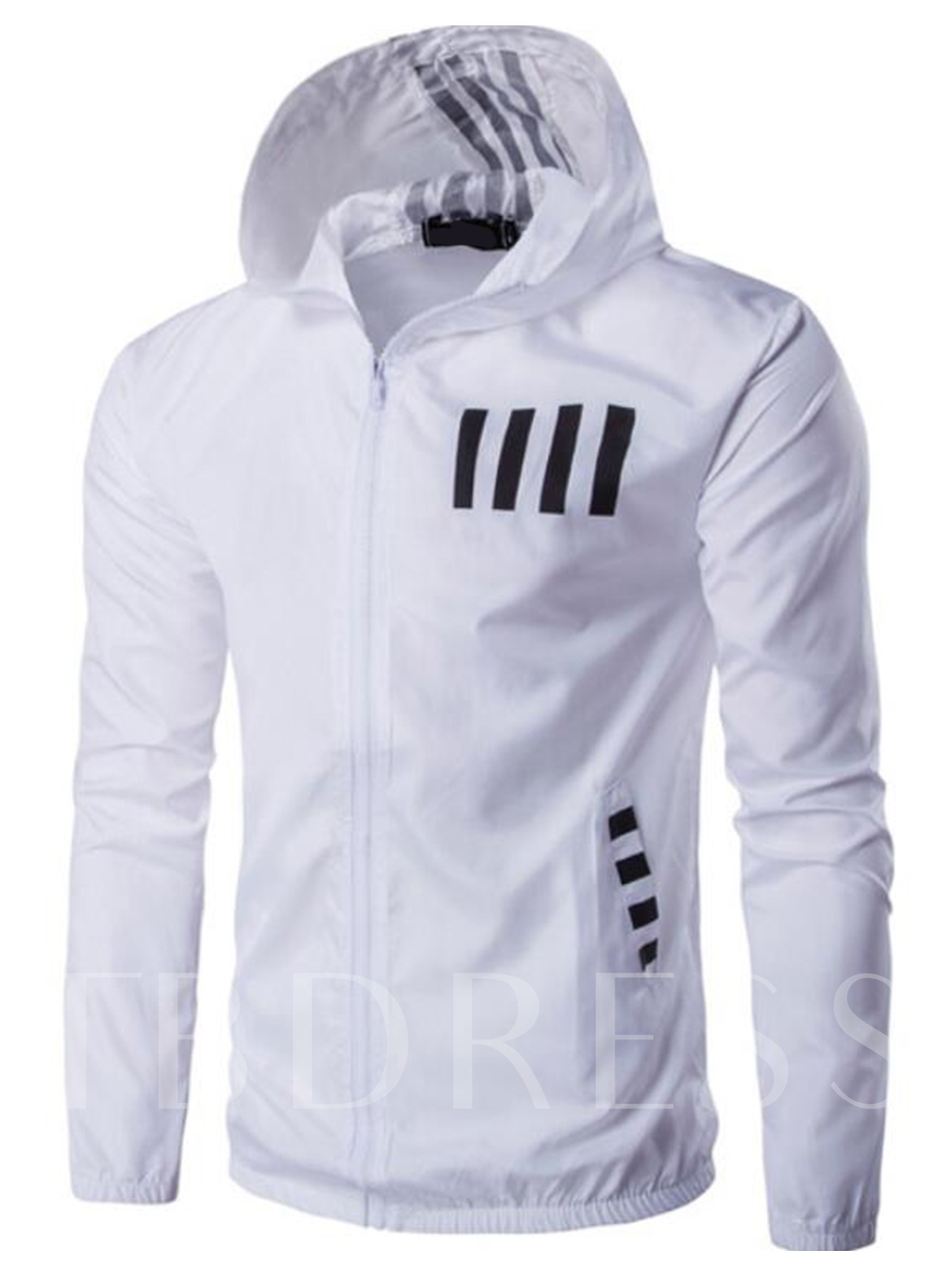 Buy Hooded Printed Side Pocket Solid Color Thin Slim Fit Men's Hoodie, Spring,Fall, 12962056 for $23.99 in TBDress store