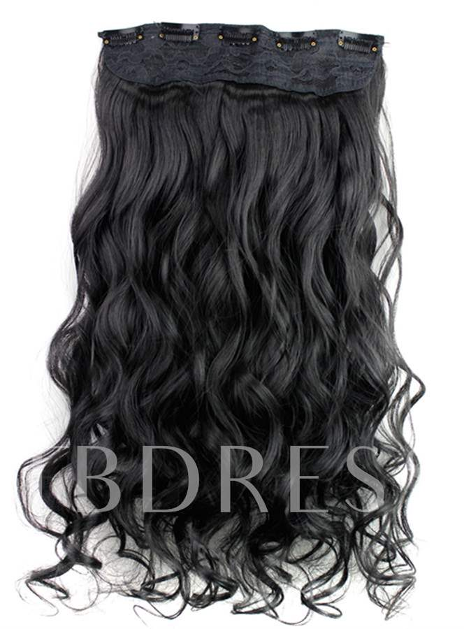 Natural Black Clip In Hair Synthetic Extension 24 Inches