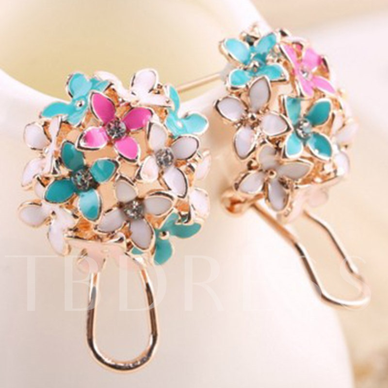 Sweet Flowers Ear Clips