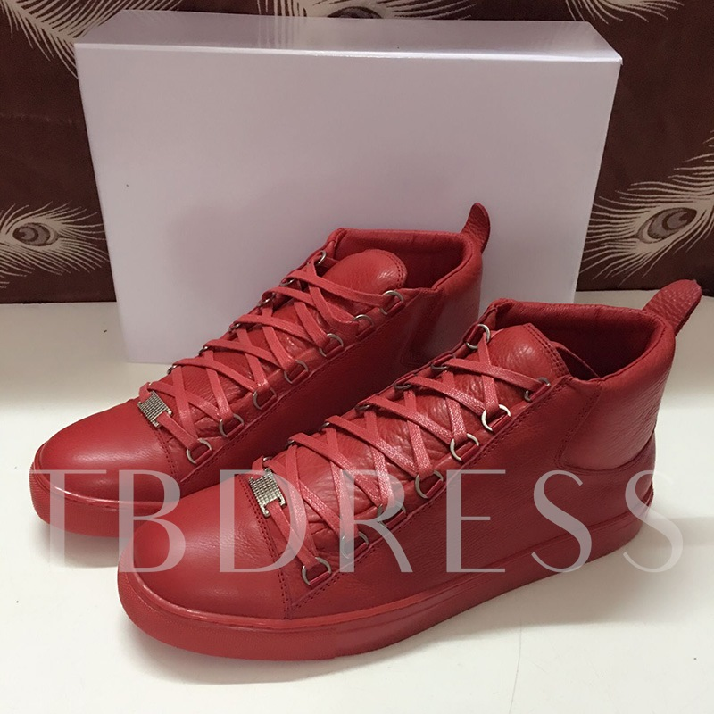Cross Strap Round Toe Flat Heel Men's Sneakers