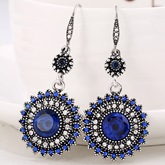 Sun Flower Pendant Earrings