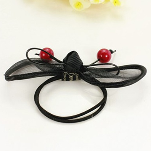 Cherry Bow Design Hair Rope