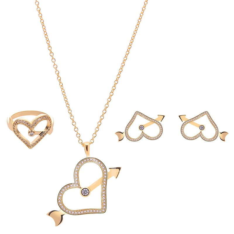Simple Heart-Shaped Two Pieces Jewelry Set