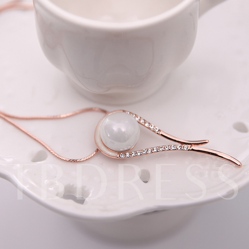 Simple Pearls Design Jewelry Set