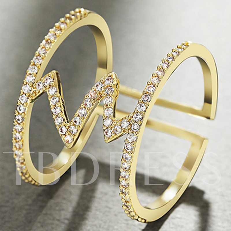 Double Layers Gold Opening Ring