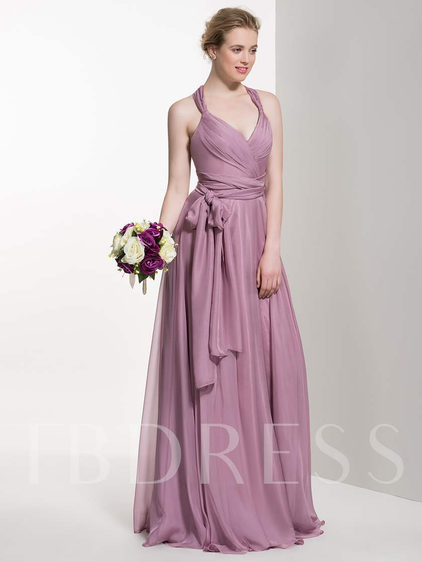 Straps Ruched A-Line Bridesmaid Dress