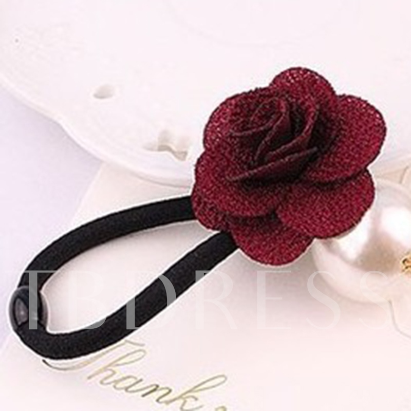 Rose Pearl Design Hair Rope