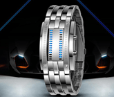 Montre Homme Digital avec LED Lamp et Binary System