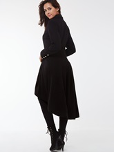 Color Block Asymmetric Long Sleeve Women's Trench Coat