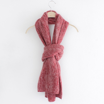 All-Matched Pure Color Knitted Scarf