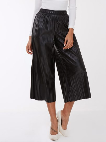 Pleated High-Waist Pure Color Women's Casual Pants