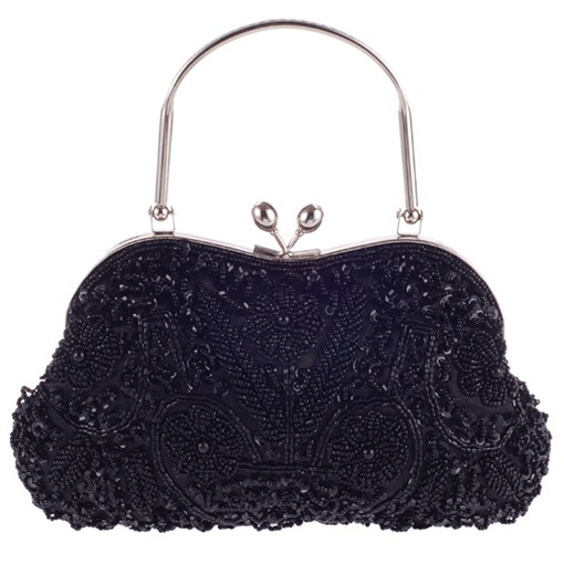 Elegant Toggle Clip Evening / Wedding Clutch