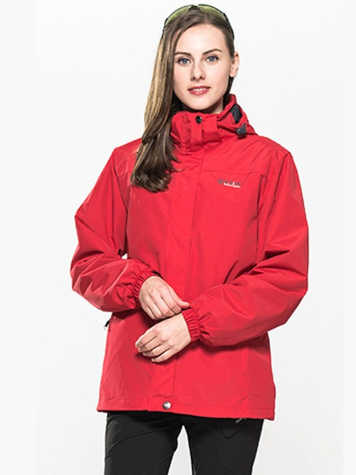 Polyester Waterproof Fleece Men Women Outdoor Hoodie Jacket