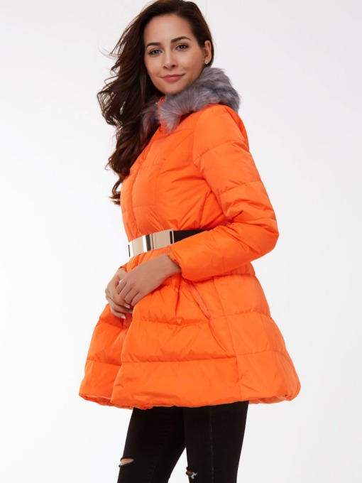 Thick Stand Collar Long Sleeve Women's Overcoat