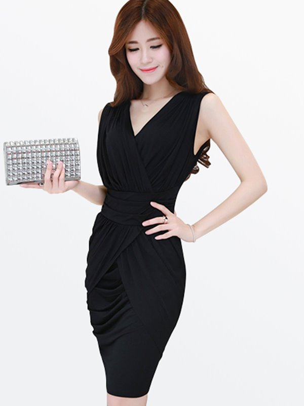 Sleeveless | Pullover | Solid | Color | Women | Dress