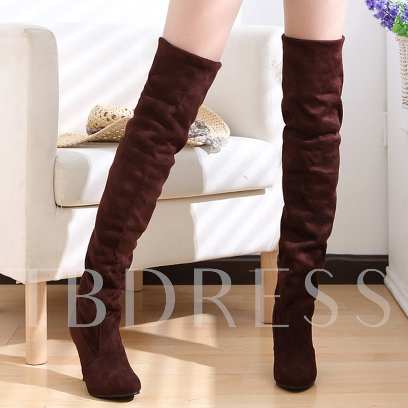 Slip-On Over-the-Knee Stiletto Heel Women's Boots