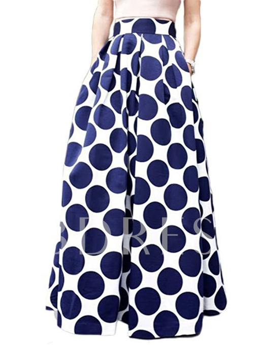 High Waisted Full-skirted Women's Skirt