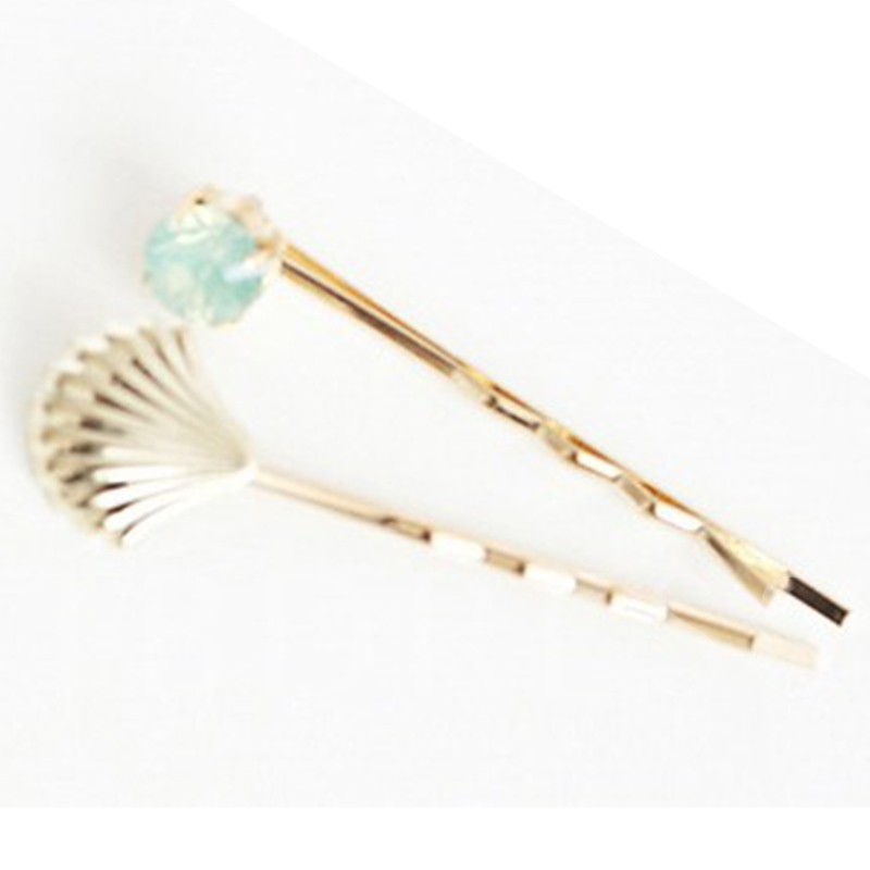 Alloy Shell Design Hair Clip(Two Pieces)