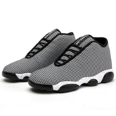 Round Toe Color Block Flat Heel Ankle Lace-Up Front Men's Sneakers